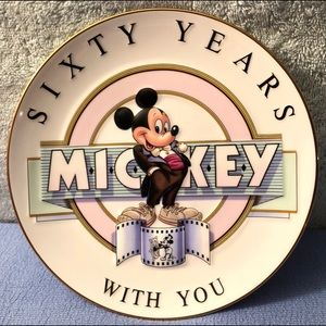 "Disney ""Sixty Years with Mickey"" Porcelain Plate"